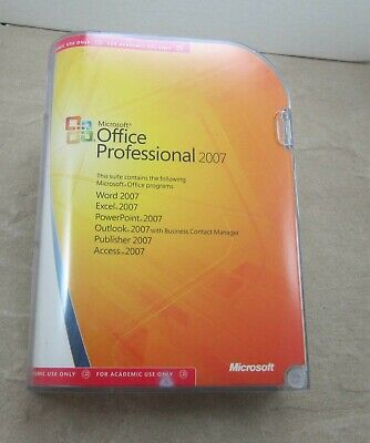 Microsoft Office Professional 2007 Academic Full Version