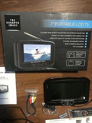 "The Sharper Image 7"" Portable LCD TV HD Compatible"