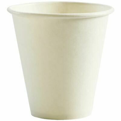 BioPak Single-wall Coffee Cups 8oz White 1000 Box