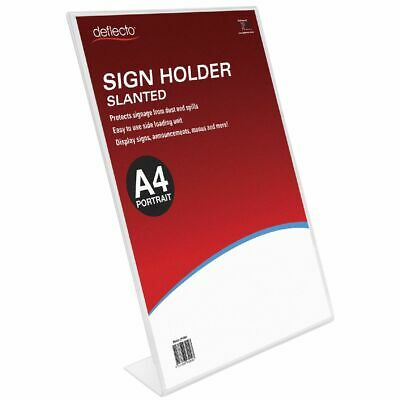 Bulk Buy - 3 x deflecto Slanted A4 Sign Holder Portrait