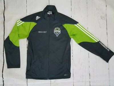 best service 49941 84c53 Adidas Seattle Sounders FC Soccer Men s Gray   Green ClimaLite Jacket ...