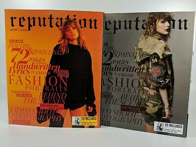 Taylor Swift Reputation Exclusive Magazines Vol 1 & 2 + CDs + Poster  New Sealed