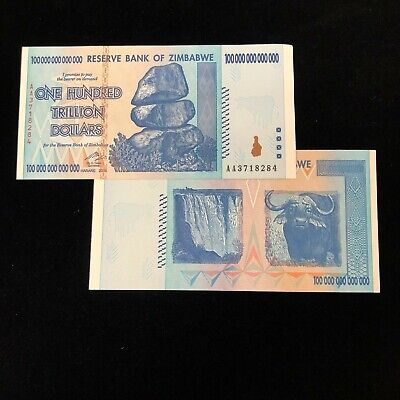 AA 2008 20 Trillion Zimbabwe Dollars Banknote *Damaged Condition* Currency