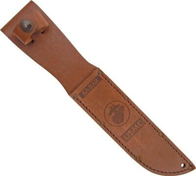 Knife Sheath USMC Ka-Bar Marine Corp Fighting KA1217 Knife Leather Belt Sheath