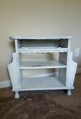 Vintage End Table with Magazine Racks