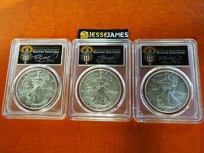 2019 W Burnished Silver Eagle Pcgs Sp70 Torch Cleveland First Day Issue Location