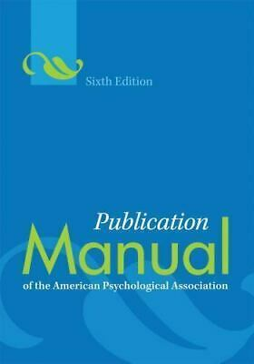 Publication Manual of the American Psychological Association  6th  9781433805615