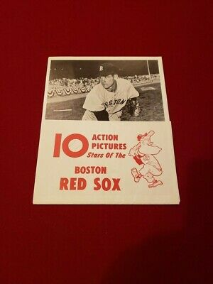 RARE 1961 Boston Red Sox Manny's Baseball Land 10-Player Action Pictures, NMMT!