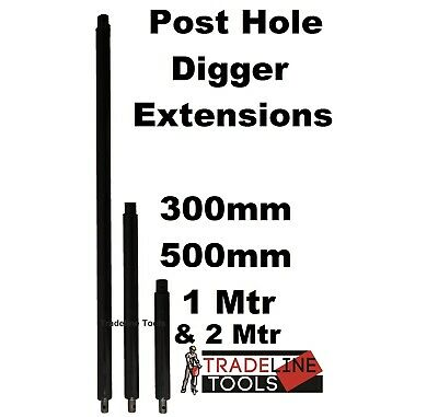 Post Hole Digger Extensions. Earth Auger Posthole 300, 500, 1 & 2 Meres Long