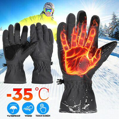 -35°Winter Warm Thermal Gloves Ski Snow Snowboard Cycling Windproof Waterproof