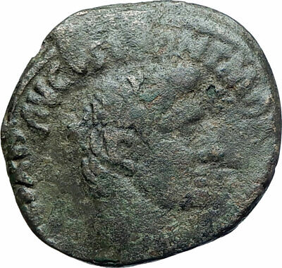 AUGUSTUS Authentic Ancient 7BC Rome Genuine Original OLD Roman Coin i78125