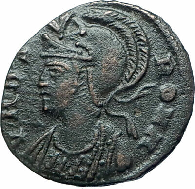 ANONYMOUS Constantine the Great Dynasty Roman Coin VRBS ROMA & SOLDIERS i78131