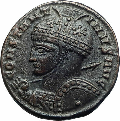 CONSTANTINE I the Great 319AD Authentic Ancient Roman Coins VICTORY ALTAR i78132
