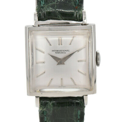 Auth  IWC INTERNATIONAL WATCH Co SS/Leather Hand-winding Women's Watch B#86098
