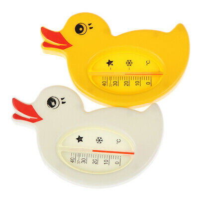 1xCartoon baby shower thermometer water duck  bath bathtub bathing toy supply HC