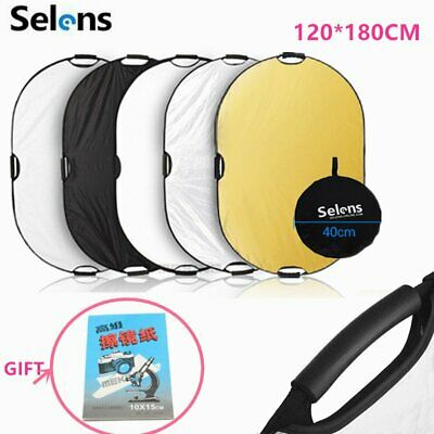 Selens 180x120cm 5-in-1 Collapsible Portable Handheld Reflector Panel Board+Gift