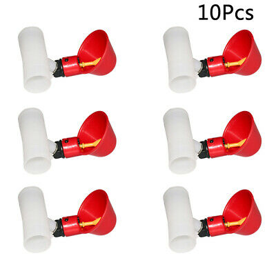 10PCS Chicken Brid Hen Water Drinking Cup Auto Poultry Drinker Feeder Nipple