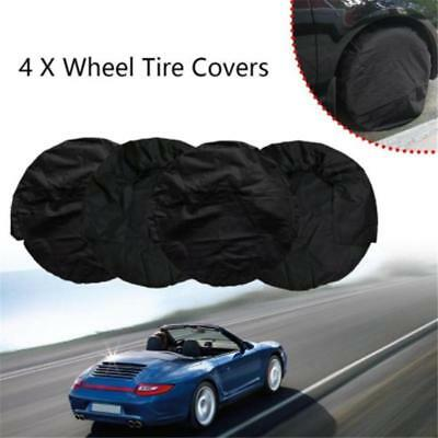 Spare Wheel Protective Cover Tyre Tire Storage Bag  Black Oxford Portable KS