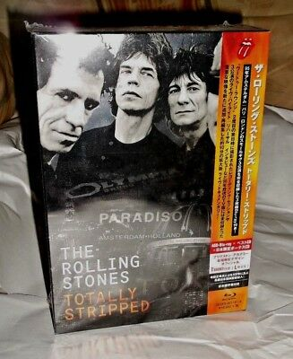 ROLLING STONES - TOTALLY STRIPPED ; Japan-only 4-Blu Ray + 2-CD + T-Shirt Box NE
