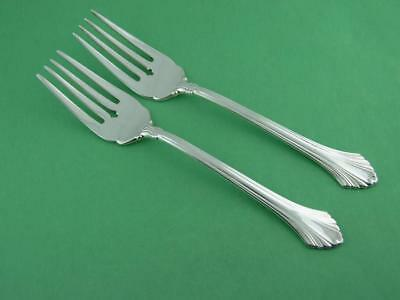 2 Sterling WALLACE Salad Forks FRENCH REGENCY ~no mono