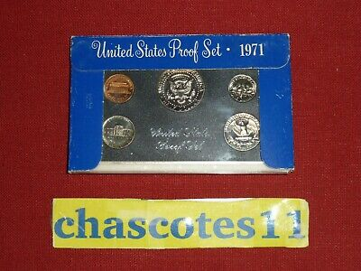 United States 1971 Proof Coins Set Brilliant Uncirculated Quarter Dollar Cent