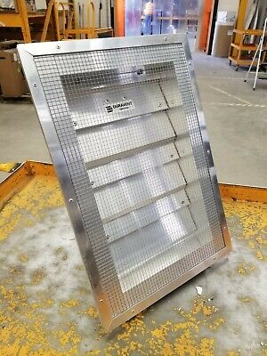 """Duravent aluminum back draft damper louver vent with motor linkage, 1/4"""" mesh"""