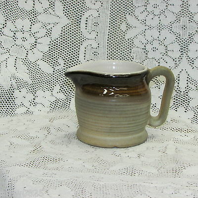 Beauce Pottery Creamer Beauceware Pitcher Jug Tan Speckled Canada Canadian