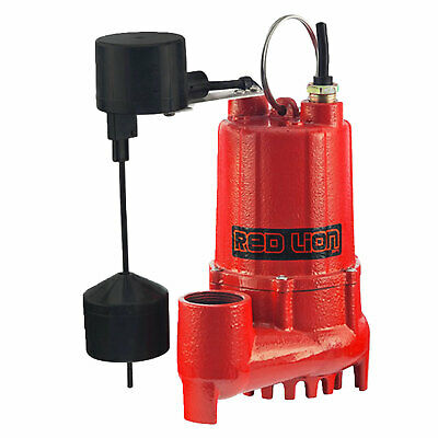 Red Lion RL-SC33V 1/3 HP Cast Iron Submersible Sump Pump with Vertical Switch