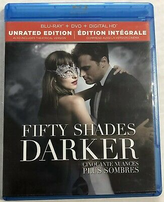 Fifty Shades Darker (Bluray, Dvd, 2017, Unrated Edition) Canadian