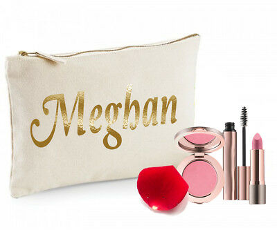 Ladies Personalised Make Up Bag Christmas Birthday Gift  Any Name Mothers Day