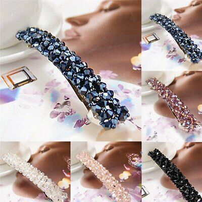 Fashion Women Girls Bling Headwear Crystal Rhinestone Hair Clip Hairpin Barrette