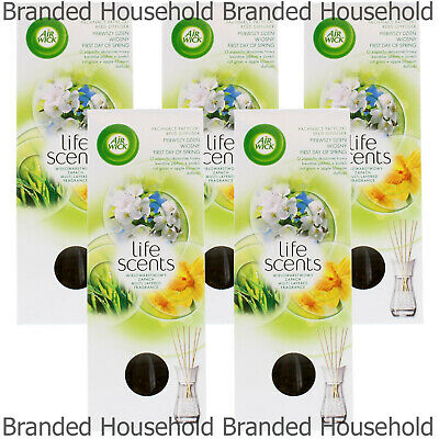 5 x AIR WICK AIRWICK REED DIFFUSERS FRESHENER OIL STICK FIRST DAY OF SPRING