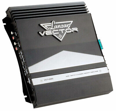 Lanzar Vector 2 Ch Two Channel 1000w Black Bridgeable Car Speaker Amplifier Amp