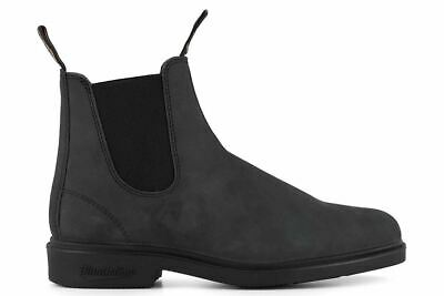 Blundstone Unisex Rustic Black Dress Boots With Chisel Toe (1308)