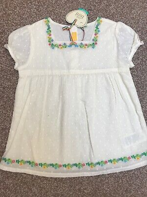 Little Bird Jools Oliver Floral Ditsy Girls Blouse Retro Vintage 4-5 BNWT