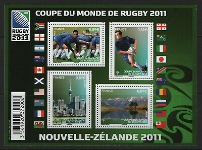 France Stamps 2011 SG MS 5008 Rugby World Cup Unmounted Mint MNH