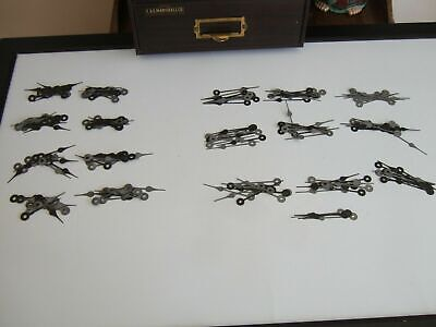 New Old Stock Set Of 174 Black Clock Movement Minute And Second Hands