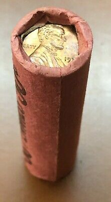 1972-P Lincoln Memorial Cent Roll BU Original Wrap Red 50 Coins End Toners - TCC