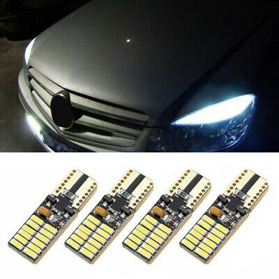 4X White LED CANbus Error Free For Mercedes W204 Eyebrows Eyelid Parking Lights