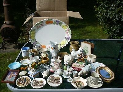 3 job lots of car boot/market stall items: ornaments/bric-a-brac etc COLLECT WR5
