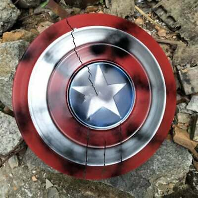 CAPTAIN AMERICA SHIELD 47cm FULL SIZE PROP METAL REPLICA AVENGERS COSPLAY