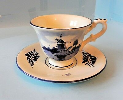 Vintage Delph Blue Cup And Saucer In Excellent Condition