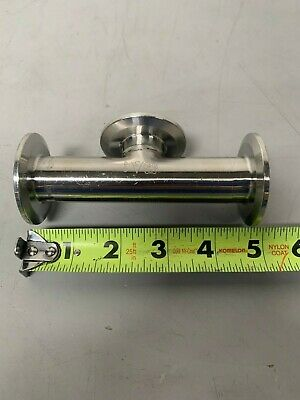 "5"" 316L Stainless Steel 3-way Pipe w/ 2"" Sanitary Fittings"