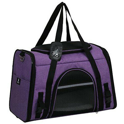 PURPLE Pet Carrier for Dogs & Cats, Airline approved soft sided pet kennel Crate