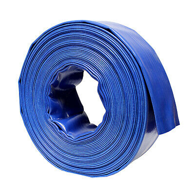 "BISupply | Discharge Hose – 3"" IN by 100' FT Flat Lay PVC Sump Pump Hose, Blue"