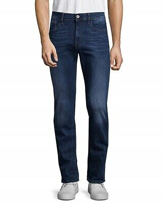 G-Star Raw Men's 3301 Deconstructed Slim Straight Blue Jeans Size 38/32