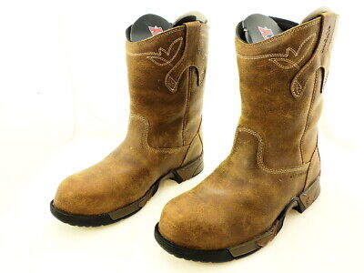 a30f4b31a51 ROCKY AZTEC WOMENS Brown Leather Comp Toe Waterproof Work Boots ...