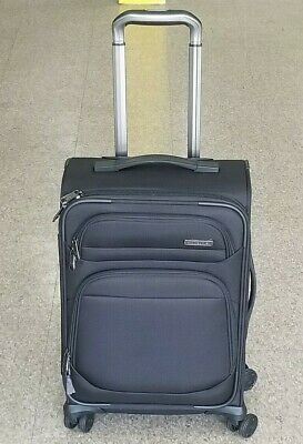 "Samsonite Epsilon 22"" NXT Carry on spinner Travel Softcase Luggage Black"