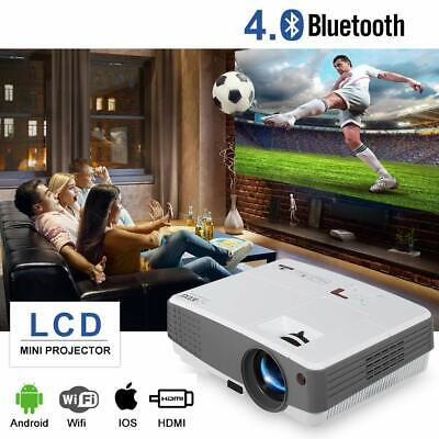 Smart Portable Android Projector 4000LM Mini LED Wifi Video Home Cinema HDMI USB