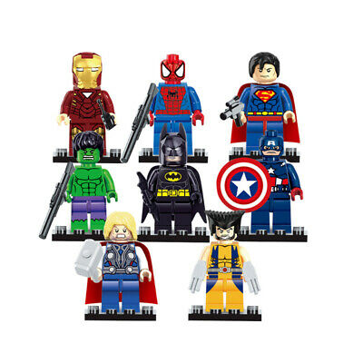 The Avengers Marvel DC Super Heroes Assembling Action Mini Figures Toy Gift